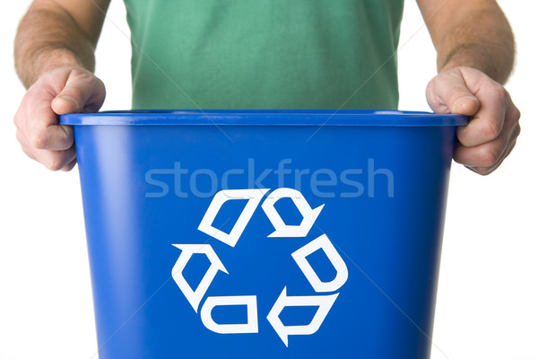 Man Holding  Recycling Bin Stock photo © monkey_business