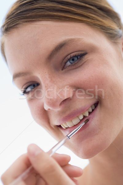 Foto d'archivio: Donna · donna · sorridente · ragazza · felice · teen · femminile
