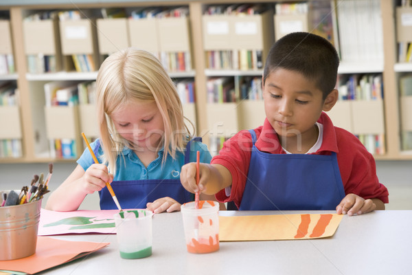 Kindergarten children painting Stock photo © monkey_business