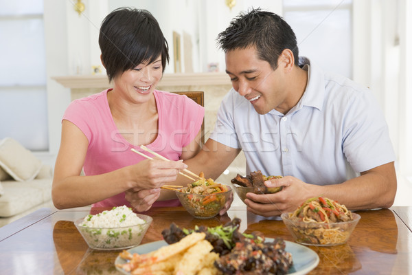 Young Couple Enjoying Chinese Food Stock photo © monkey_business
