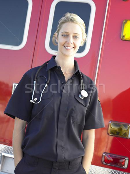 портрет фельдшер скорой счастливым больницу медсестры Сток-фото © monkey_business