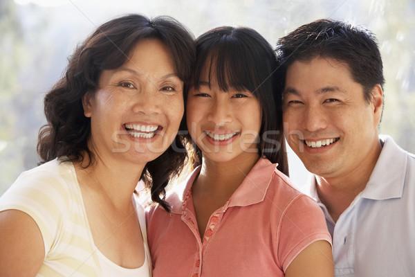 Família juntos mulher homem feliz casa Foto stock © monkey_business