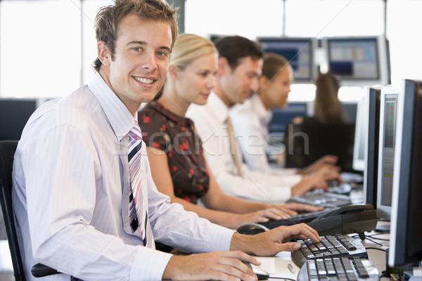在庫 作業 コンピュータ コンピュータ 女性 ビジネスマン ストックフォト © monkey_business