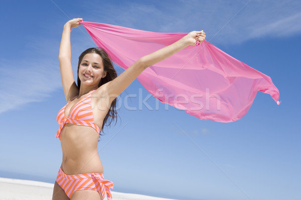 Jeune femme femme plage Photo stock © monkey_business