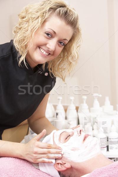 женщины массажистка клиент красоту массаж портрет Сток-фото © monkey_business