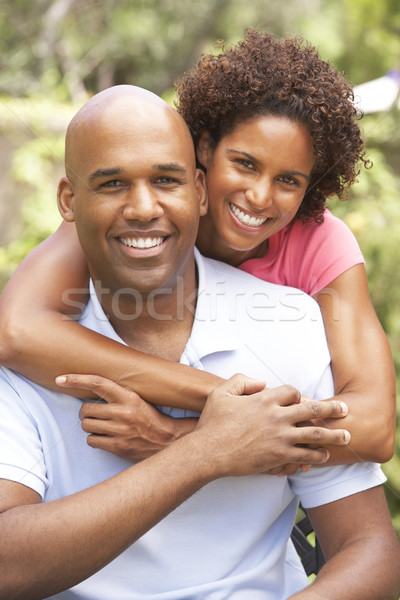 Young Couple Outdoors Hugging Stock photo © monkey_business