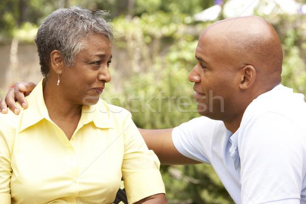 Zdjęcia stock: Starszy · kobieta · dorosły · syn · szczęśliwy · portret