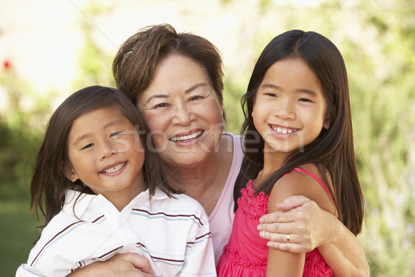 Grandmother With Grandchildren In Garden Stock photo © monkey_business