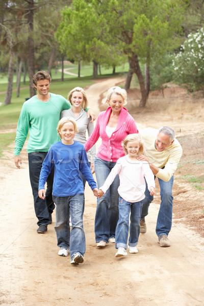 Trzy pokolenie rodziny chodzić parku Zdjęcia stock © monkey_business