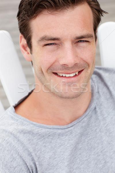 Hoofd schouders portret man buitenshuis persoon Stockfoto © monkey_business