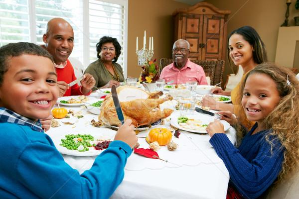 Többgenerációs család ünnepel hálaadás nő család lány Stock fotó © monkey_business