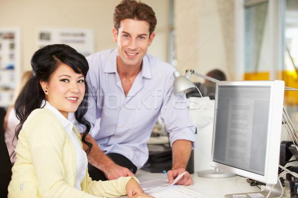 Photo stock: Travailleurs · bureau · occupés · Creative · employés · de · bureau · bureau