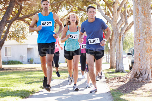 Group Of Runners On Suburban Street Stock photo © monkey_business