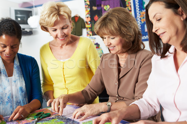 Group Of Women Making Quilt Together Stock photo © monkey_business