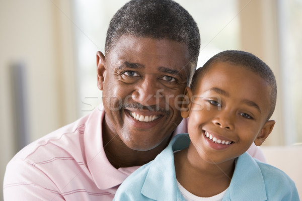 Grand-père petit-fils souriant homme heureux Photo stock © monkey_business