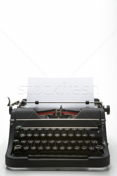 Studio Shot Of An Old Fashioned Typewriter Stock photo © monkey_business