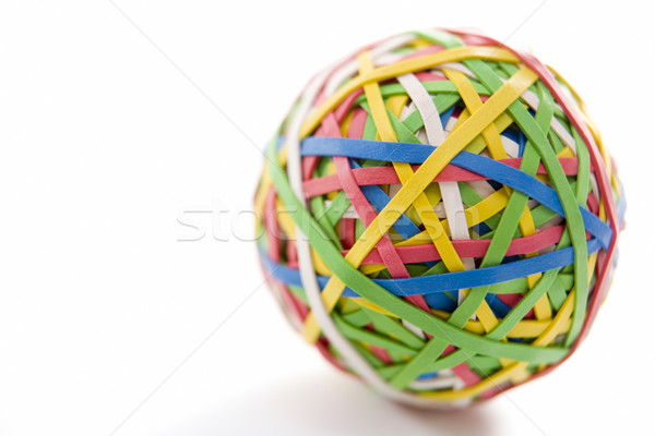 Stock photo: Rubber Band Ball Sitting On Desk