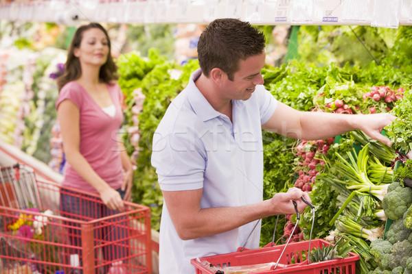 пару супермаркета проход женщину Сток-фото © monkey_business