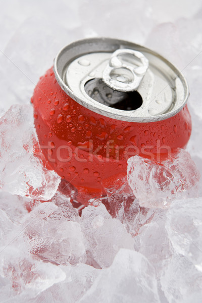 Red Can Of Fizzy Soft Drink Set In Ice With The Ring Pulled  Stock photo © monkey_business