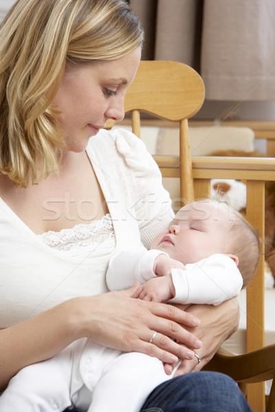 Photo stock: Mère · bébé · femme · personne