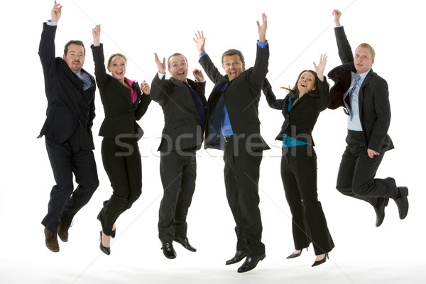 Group Of Business People Jumping In The Air  Stock photo © monkey_business