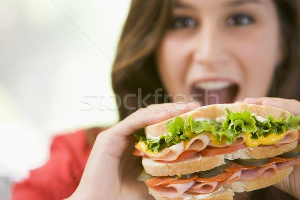Alimentação sanduíche comida casa cozinha Foto stock © monkey_business