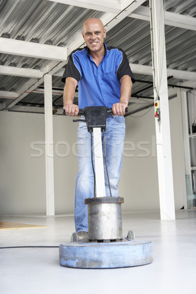Cleaner polishing office floor Stock photo © monkey_business