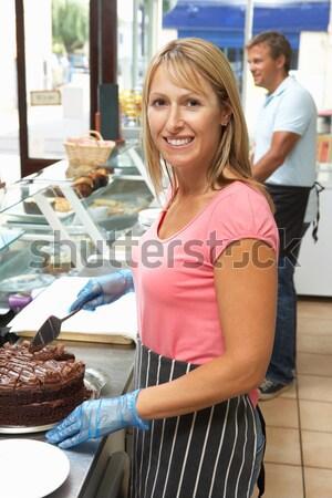 женщину женщины счастливым работу красоту рабочих Сток-фото © monkey_business