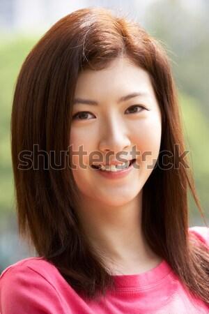 Cabeza espalda retrato atractivo chino mujer Foto stock © monkey_business