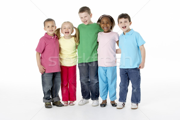 Group Of Young Children In Studio Stock photo © monkey_business