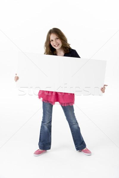 Jovem festa branco cartão crianças Foto stock © monkey_business