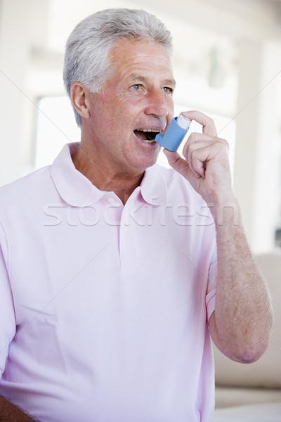 Man Using An Inhaler Stock photo © monkey_business