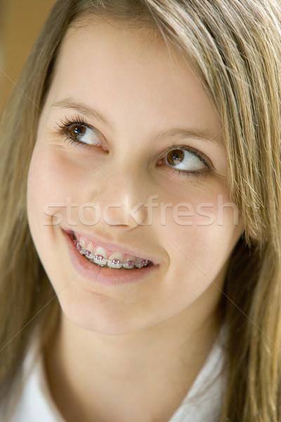 Retrato sorridente menina crianças adolescente Foto stock © monkey_business