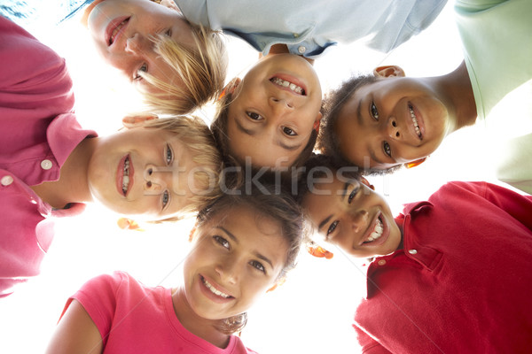 Groupe enfants jouer parc enfant filles Photo stock © monkey_business