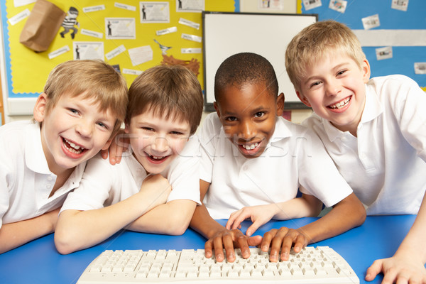 Schoolchildren in IT Class Using Computers Stock photo © monkey_business