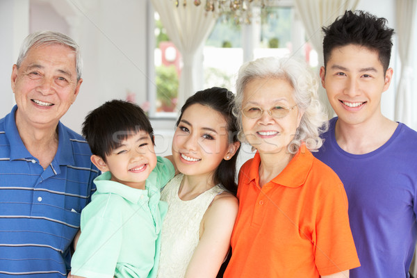 Portrait Of Multi-Generation Chinese Family Relaxing At Home Tog Stock photo © monkey_business