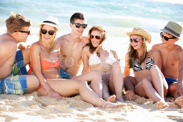 Group Of Teenage Friends Enjoying Beach Holiday Together Stock photo © monkey_business