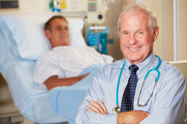 Portrait Of Doctor With Patient In Background Stock photo © monkey_business