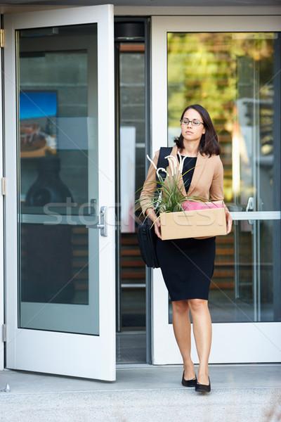 Stock photo: Redundant Businesswoman Leaving Office With Box