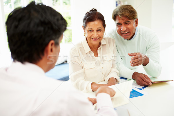 Senior Indian Couple Meeting With Financial Advisor At Home Stock photo © monkey_business