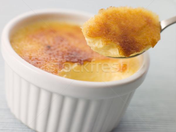 Foto stock: Ovos · sobremesa · creme · refeição · doces · tigela