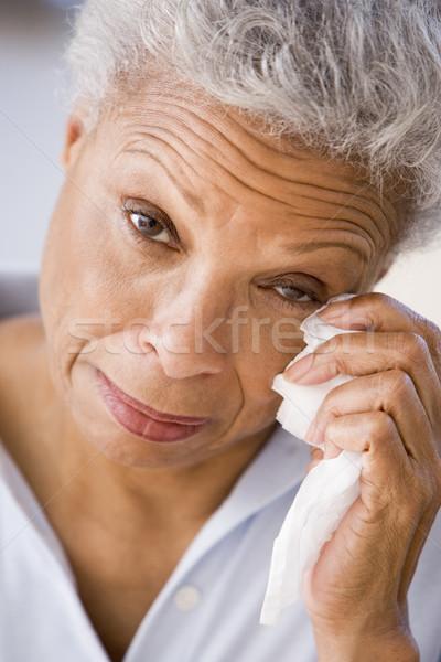 Femme loin larmes santé triste pleurer Photo stock © monkey_business