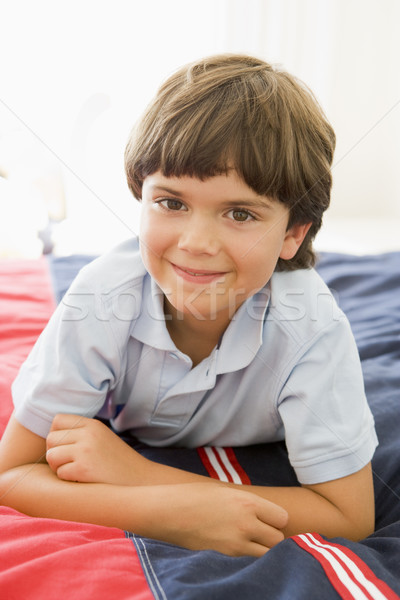 Letto felice bambino ragazzo Foto d'archivio © monkey_business