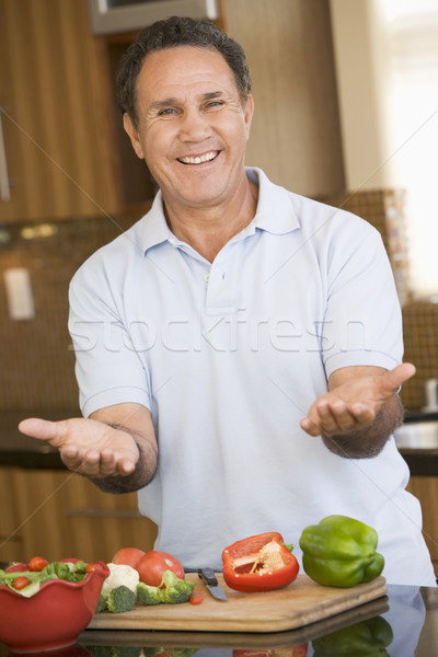 Man Preparing meal,mealtime  Stock photo © monkey_business
