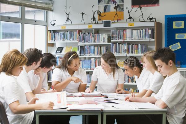 Estudar escolas biblioteca livro estudante Foto stock © monkey_business