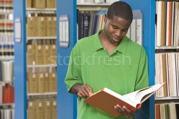 Student pracy biblioteki czytania książki edukacji Zdjęcia stock © monkey_business