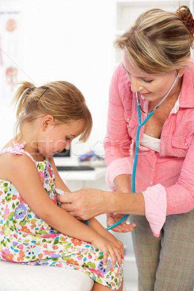 Female doctor examining child Stock photo © monkey_business