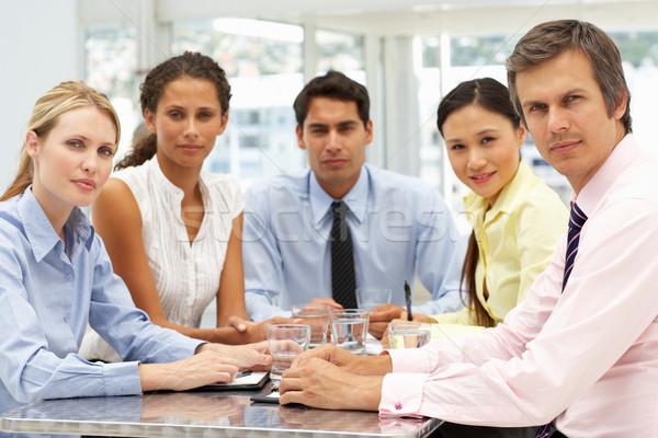 Mieszany grupy spotkanie biznesowe działalności kobiet spotkanie Zdjęcia stock © monkey_business