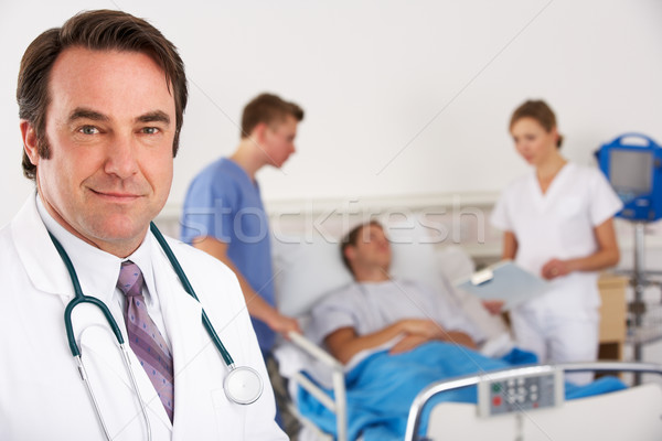 American doctor and team on hospital ward Stock photo © monkey_business