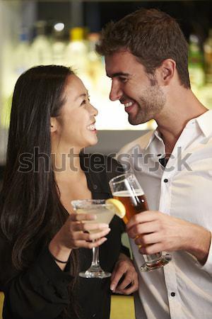 Zdjęcia stock: Oblubienicy · pan · młody · pitnej · szampana · ślub · człowiek